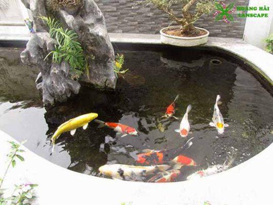 Hồ cá koi sân thượng mẫu 2