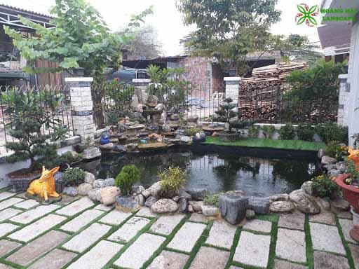 Hồ cá koi sân vườn đẹp