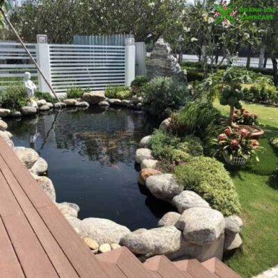 Hồ cá koi sân vườn mẫu 6