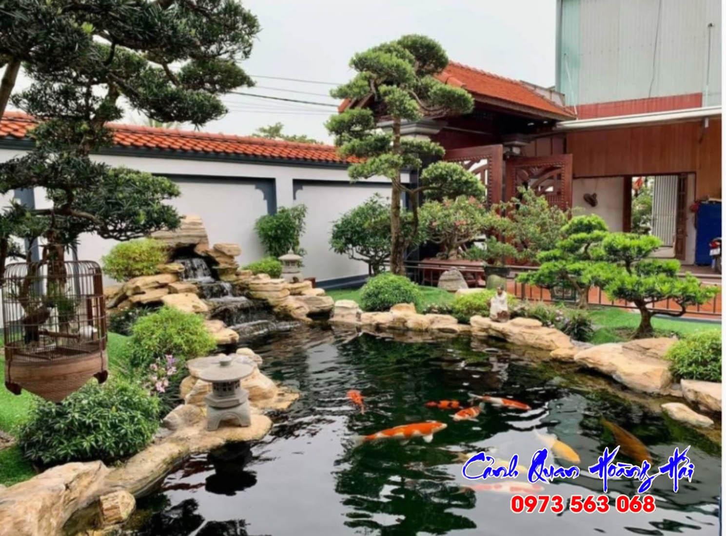 Thi công hồ cá koi tại Đồng Nai