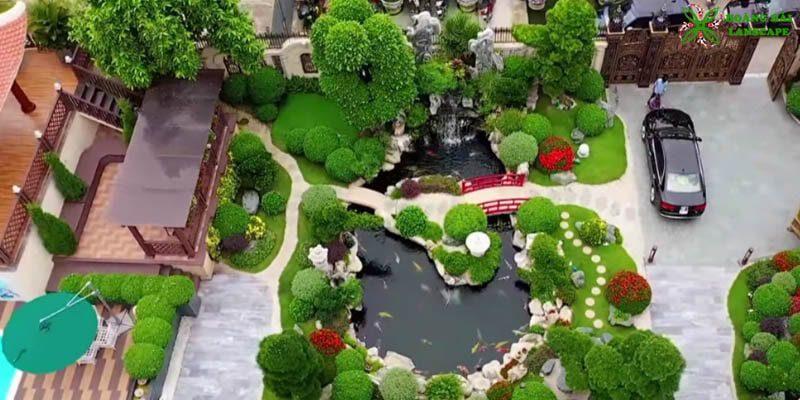Hồ cá koi sân vườn Đà Lạt Lâm Đồng