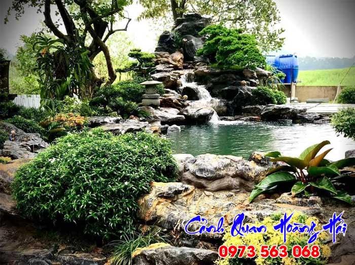 Hòn hon bộ thác nước hồ cá tại Củ Chi