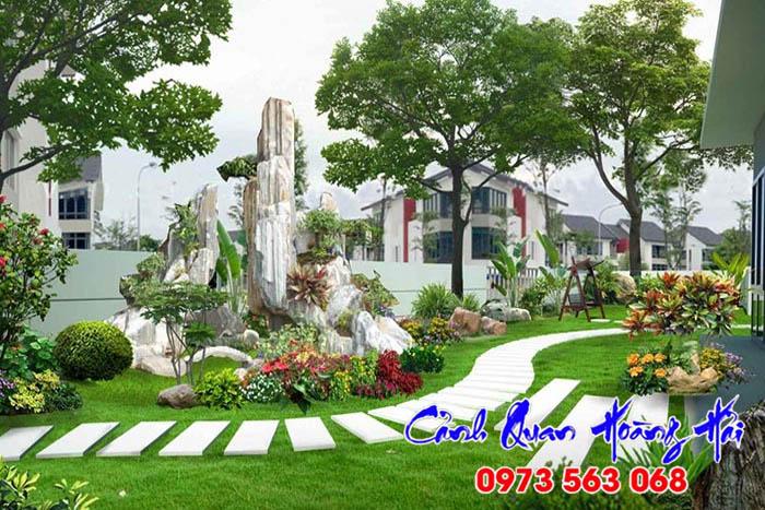 Mẫu hòn non bộ sân vườn đẹp - Hình 1