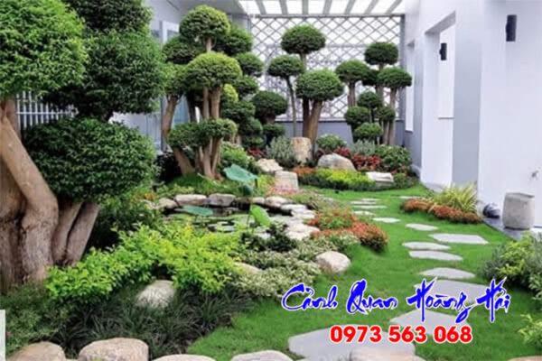 Thi công tiểu cảnh sân vườn tại Bình Phước