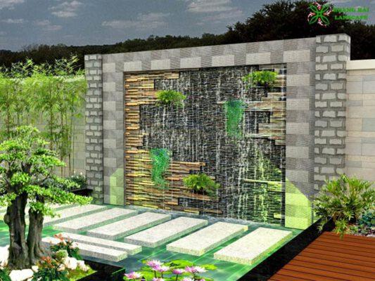 Thiết kế thi công tường thác nước TP HCM