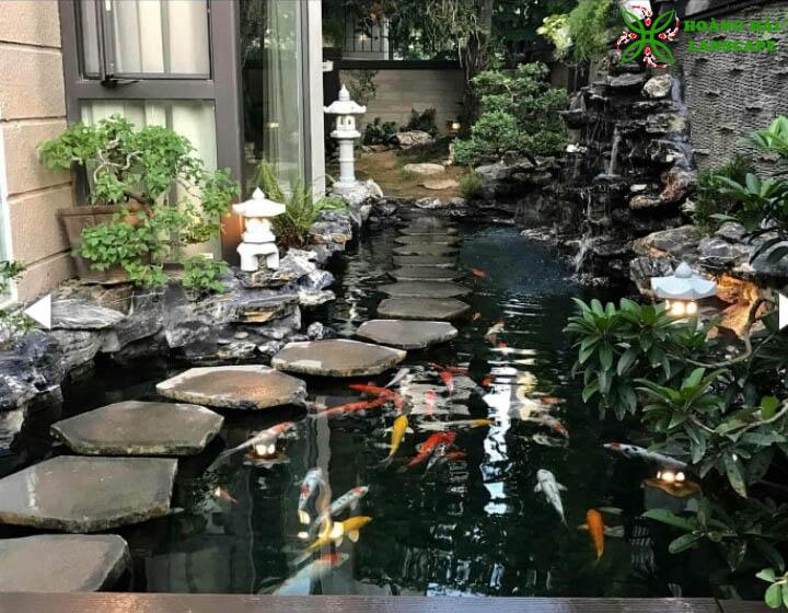 Thiết kế thi công tiểu cảnh sân vườn tại Long An