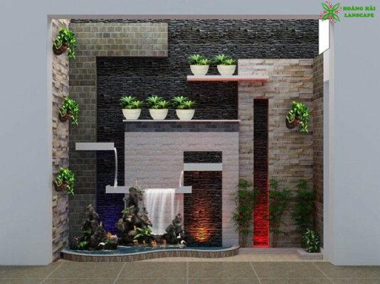 Tường thác nước trong nhà đẹp