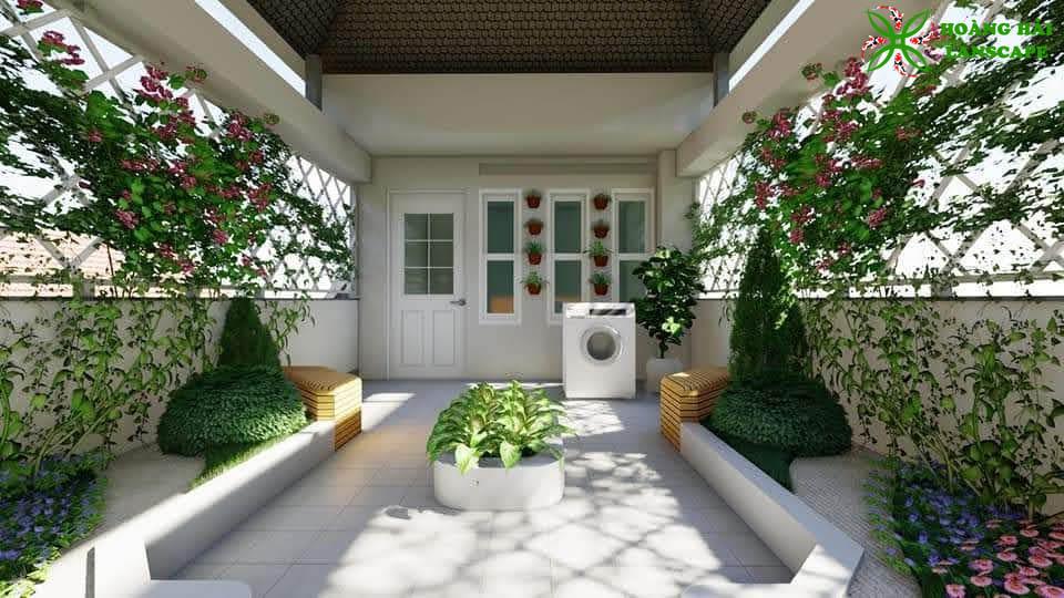 Tổng hợp mẫu tiểu cảnh sân vườn đẹp - Hình 1