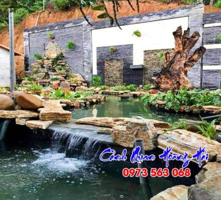 Hồ cá koi nhà anh Hưng Bình Phước
