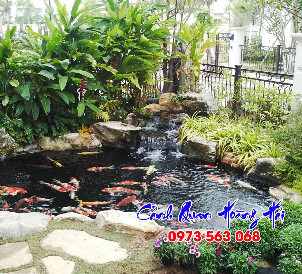 Hồ cá koi sân vườn đẹp tại Bình Phước