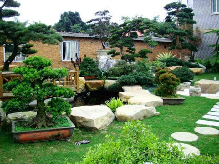 Mẫu sân vườn biệt thự Nhật Bản 01