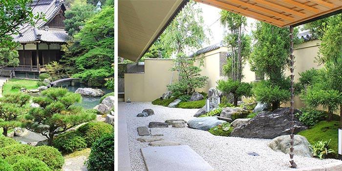 Mẫu sân vườn biệt thự Nhật Bản 02
