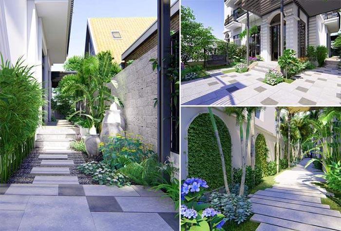 Mẫu sân vườn biệt thự hiện đại 03
