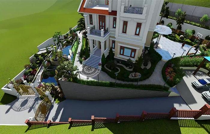 Mẫu thiết kế sân vườn đẹp 03