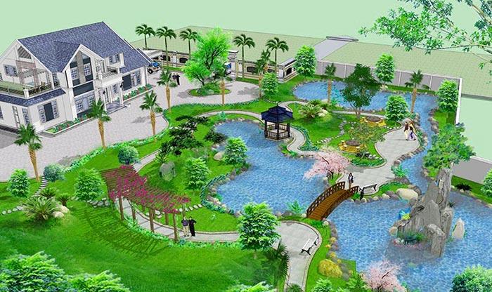 Mẫu thiết kế sân vườn đẹp 05