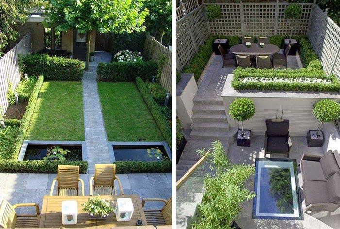 Mẫu thiết kế sân vườn sau nhà 04