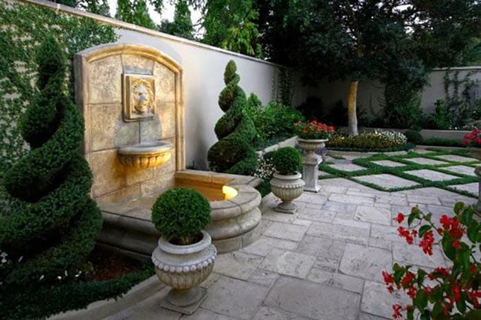 Sân vườn thiết kế theo phong cách Châu Âu 04