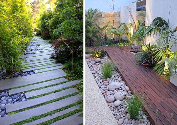 Thiết kế sân vườn bên hông nhà 01