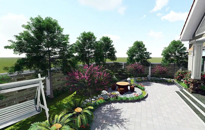 Thiết kế sân vườn trước nhà 03