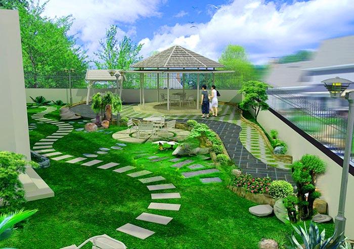 Tổng hợp mẫu sân vườn đẹp 04