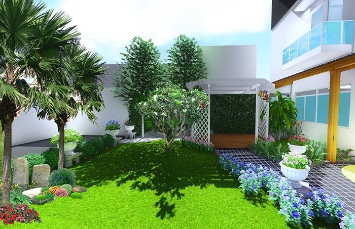 Tổng hợp mẫu sân vườn đẹp 14