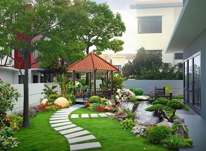 Tổng hợp mẫu sân vườn đẹp 19
