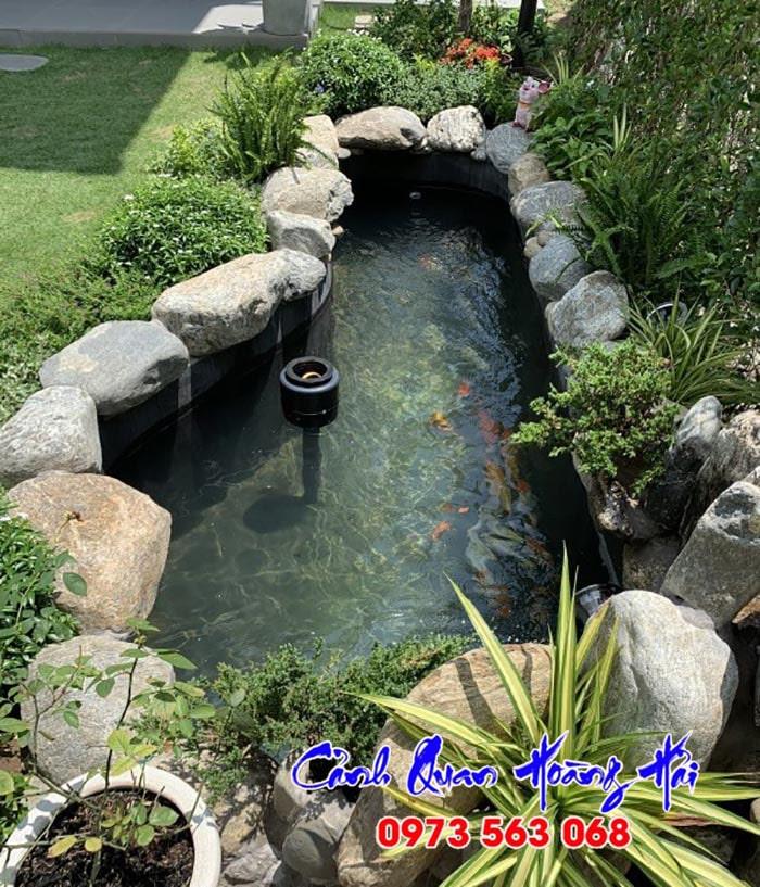 Hồ cá koi sân vườn - Hình 1