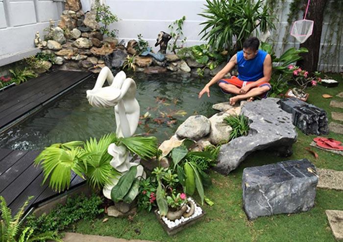 Hồ cá koi mini trong sân vườn - Hình 5