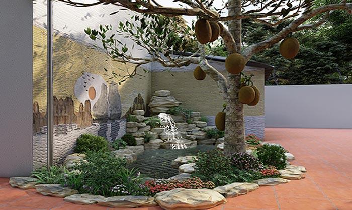 Hồ cá koi mini trong sân vườn - Hình 6