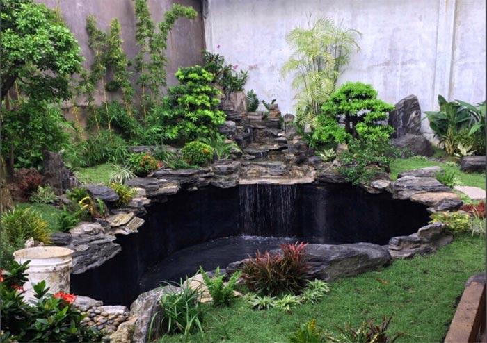Hồ cá koi mini trong sân vườn - Hình 7