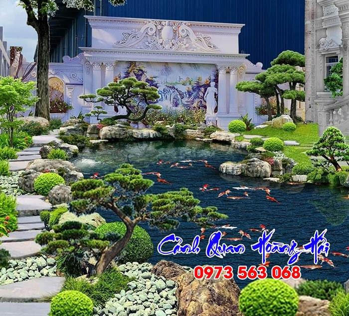 Hồ cá koi villa Royal HCM