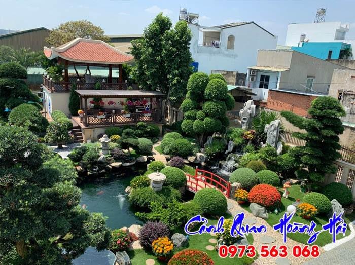 Hồ cá sân vườn phong thủy kiểu Nhật