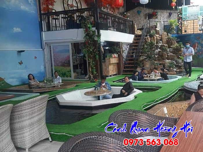 Thi công hồ cá koi quán cafe