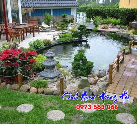 Thi công hồ cá koi tại Vĩnh Long