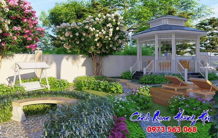 Tiểu cảnh sân vườn phong cách hiện đại