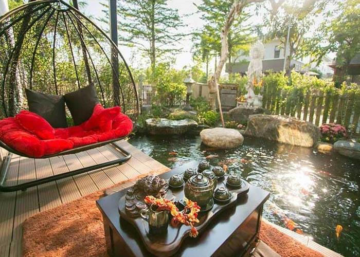Hồ cá koi biệt thự ca sĩ - diễn viên Nhật Kim Anh H2