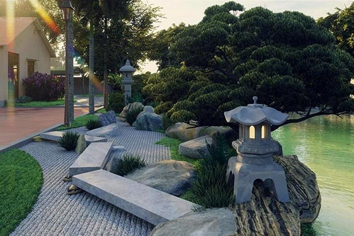 Mẫu sân vườn Nhật Bản 04