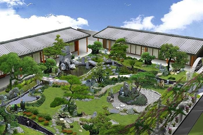 Mẫu sân vườn Nhật Bản 05