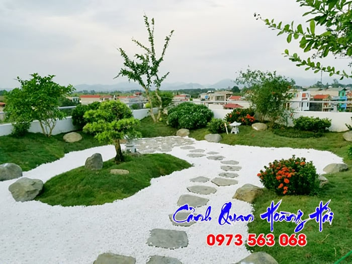 Sân vườn Nhật trên sân thượng