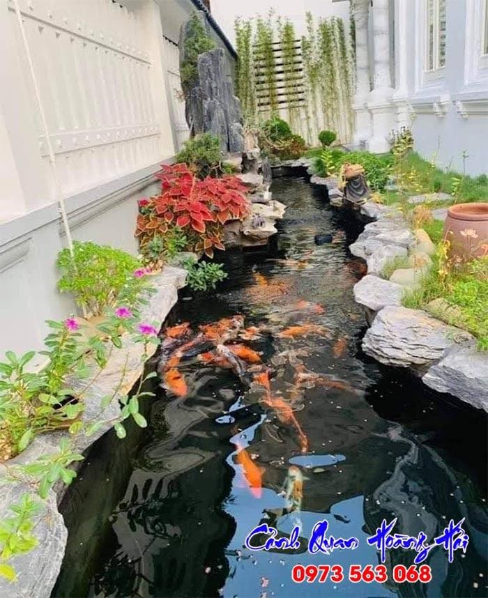 Thi công hồ cá koi tại Tiền Giang