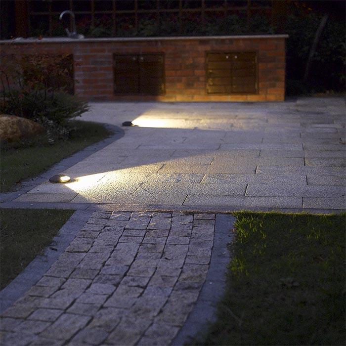 Đèn led âm đất lối đi sân vườn